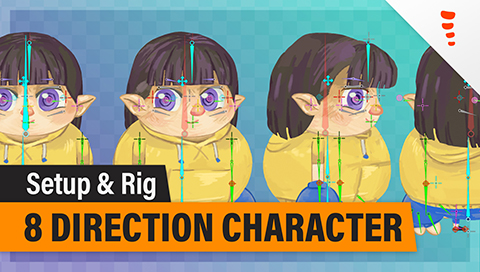 Spine 8 Direction Character, Part 2 – Rigging